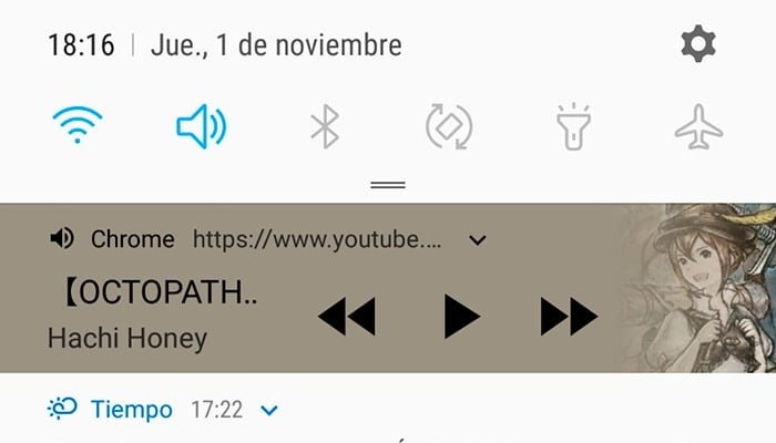 youtube segundo plano notificacion multimedia