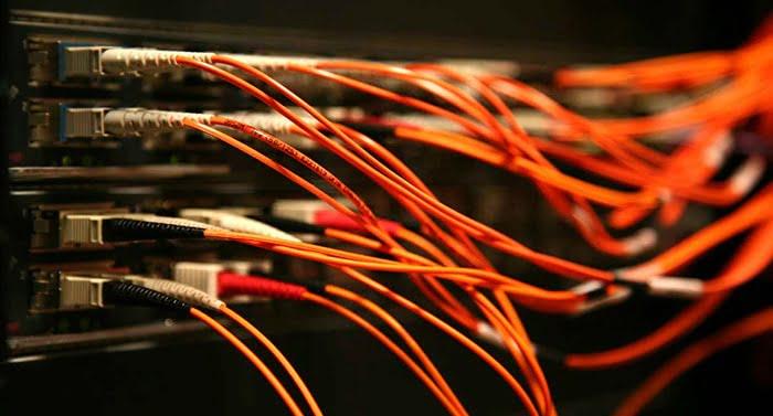 fibra optica cableado